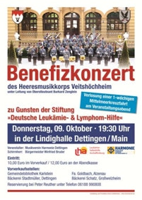 Plakat Benefizkonzert in Dettingen