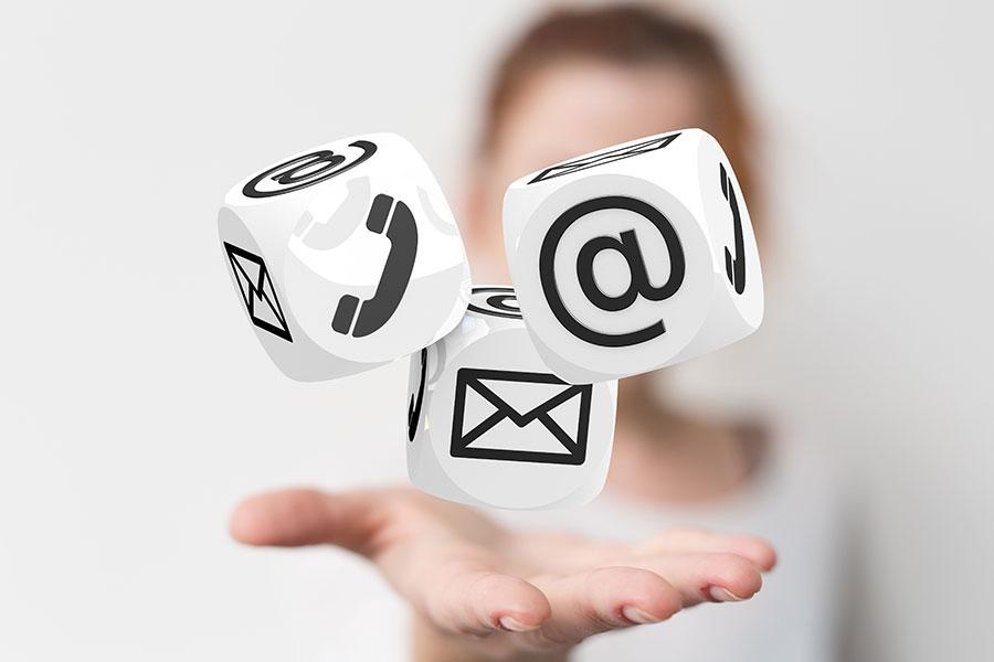 Erreichbarkeit der Stiftung via Telefon, E-Mail oder per Post