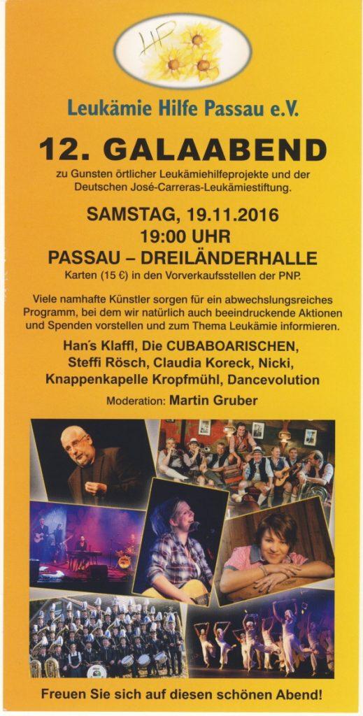 Flyer Galaabend 2016 - Leukämie Hilfe Passau e.V.